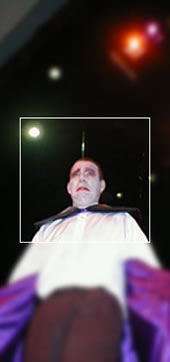 Dracula- The Musical? (2001): Paul Gardner as Count Dracula looks distressed. Garlic?